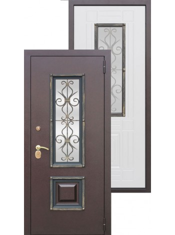 Входная дверь 8 см Венеция Беленый дуб