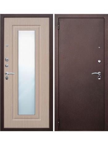 Входная дверь Царское зеркало Беленый дуб