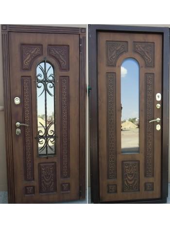 Входная дверь Лацио Винорит Золотой орех с патиной