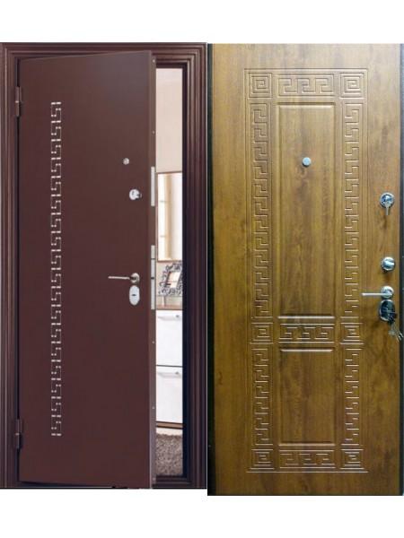 Входная дверь Меги ДС-568 золотистый дуб винорит