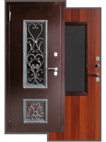 Входная дверь Аргус «АМОР» (стекло + ковка)