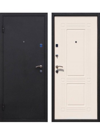 Входная дверь Ампир Черный шелк Беленый дуб