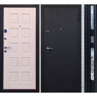 Входная дверь Черный шелк Троя щит Беленый дуб